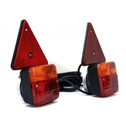 ZESTAW ŚWIATEL LAMP DO PRZYCZEPKI magnes